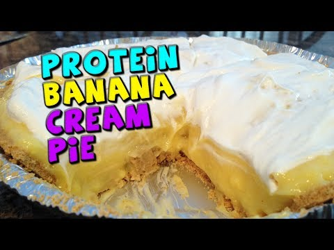 PROTEIN Banana Cream Pie Recipe! (Low fat/DELICIOUS!)