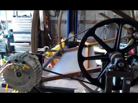 Water wheel PMA power generator