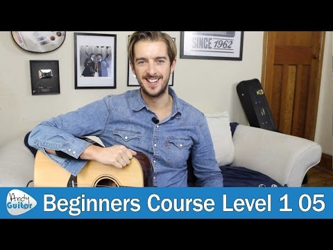 Fingers hurt from playing guitar? Try this! (Beginner Guitar Course Level 1 lesson 5)