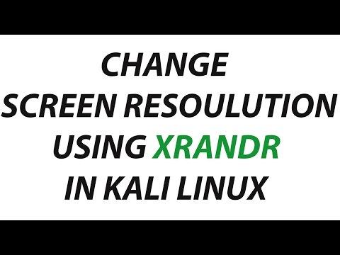 Change Screen resolution using xrandr kalli linux