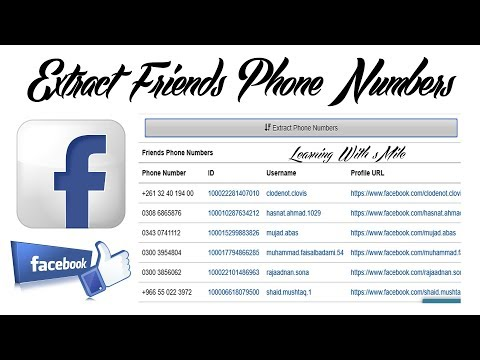 How to Extract Public Phone Numbers of Facebook Friends in Urdu/hindi - Learning With sMil