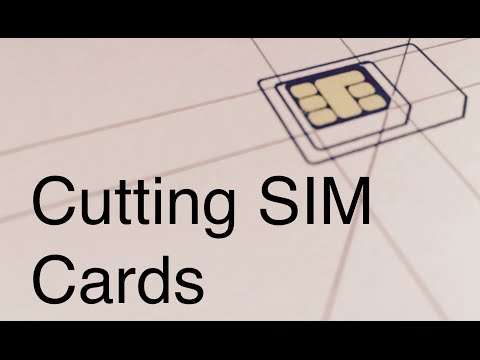 How to Cut MiniSIM to MicroSIM to NanoSIM