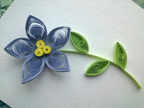 Quilling Flowers Tutorial: make a beautiful Quilling flower. Paper art Quilling.