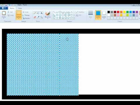 Trick!!! How to Make Transparent image from MS Paint