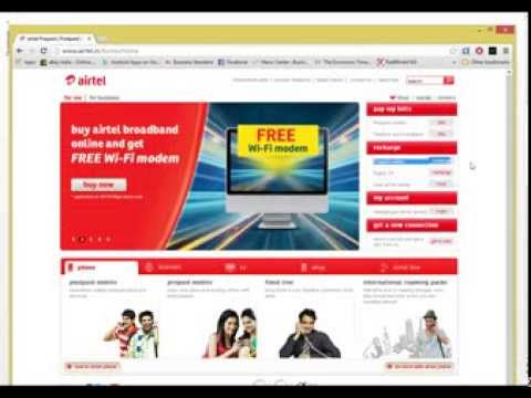 How to recharge your airtel number online
