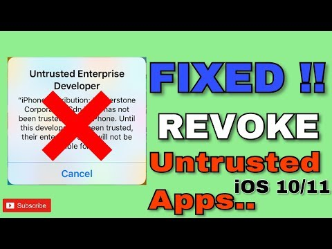Verify Apps FIX Untrusted Enterprise Developer! (NO JAILBREAK) iOS 10/11