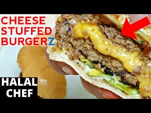 Cheese-Stuffed Burgers Recipe | Juicy Lucy Burger | Halal Chef