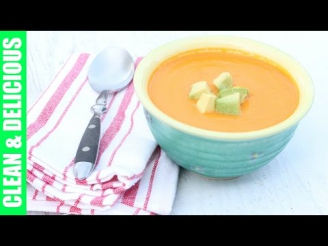 Dairy-Free Golden Bell Pepper Soup | Clean & Delicious