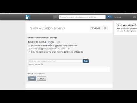 Skills Endorsements LinkedIn