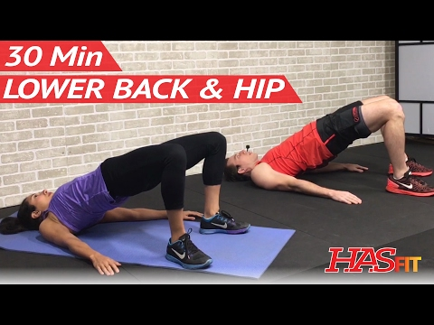 30 Min Exercises for Lower Back and Hip Pain Relief - Stretches for Lower Back Pain Exercises