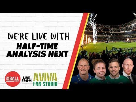 #AvivaFanStudio: Ireland 15-13 Wales Half-Time Analysis