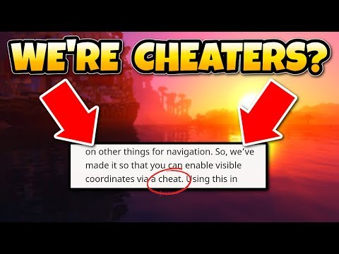 Minecraft Calls Us CHEATERS?! Coordinates In Better Together Update, Switch, Xbox One & PE