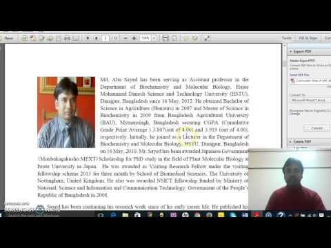 How to write an e-mail to Professor for Scholarship: Video Part 2