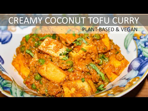 Creamy Coconut Tofu Curry Recipe   Vegan Coconut Tofu Curry Recipe   Dairy-free & Gluten-free