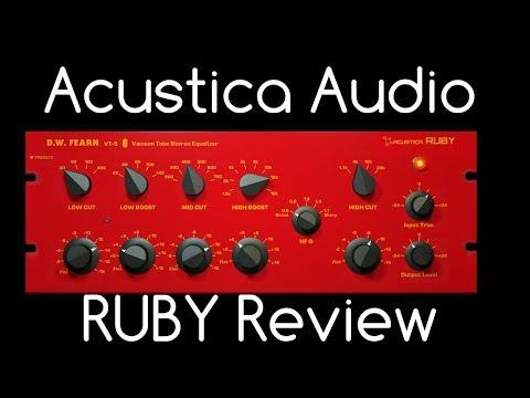Acustica Audio RUBY Review D.W. Fearn VT-5 Plugin