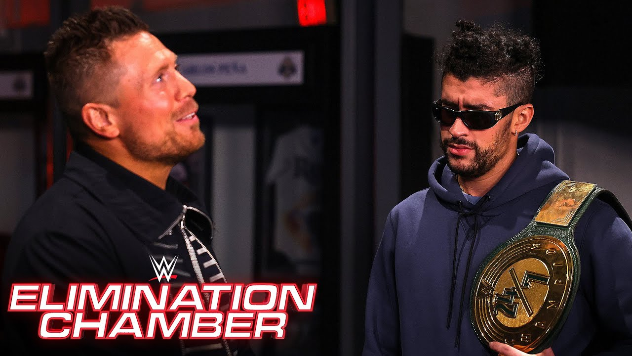 Bad Bunny slaps back The Miz's insults: WWE Elimination Chamber (WWE Network Exclusive)