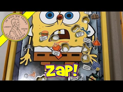 Operation Spongebob Edition Skill Game, 2007 Hasbro Toys