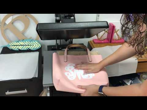 How to Press HTV to an Artificial Leather Tote Bag