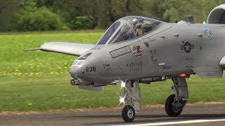 SUPER RC SCALE TURBINE MODEL JET WARTHOG A-10 THUNDERBOLT II WITH ENGINE FIRE