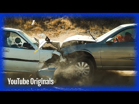 Head on Car Crash in Slow Mo