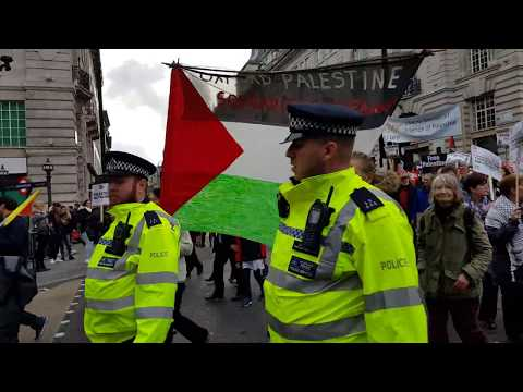 Palestinians protest Balfour Declaration on 100th anniversary in London