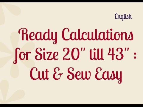 Sewing Pattern Formulas / Dress Pattern Making / Formulas for Dress Making : Cut & Sew / Silai Naap