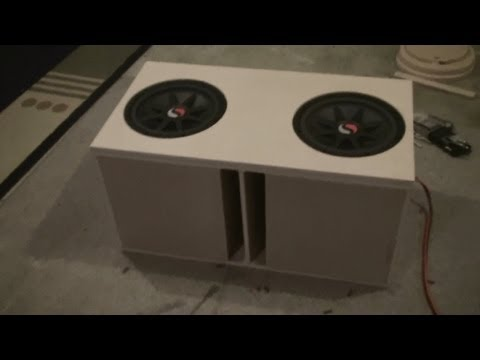 Ported Box Build Pt 3 For 2 Kicker Solo Classic 12