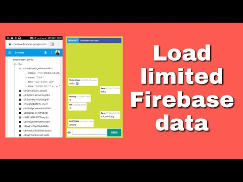 Load limited items using Firebase Query in Sketchware