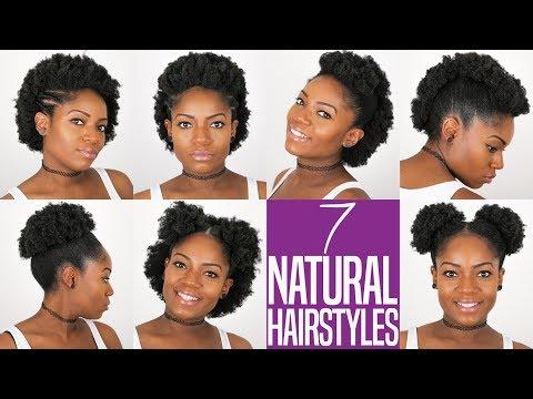 7 NATURAL HAIRSTYLES (For Short to Medium Length Natural Hair) (4B/C Hair)