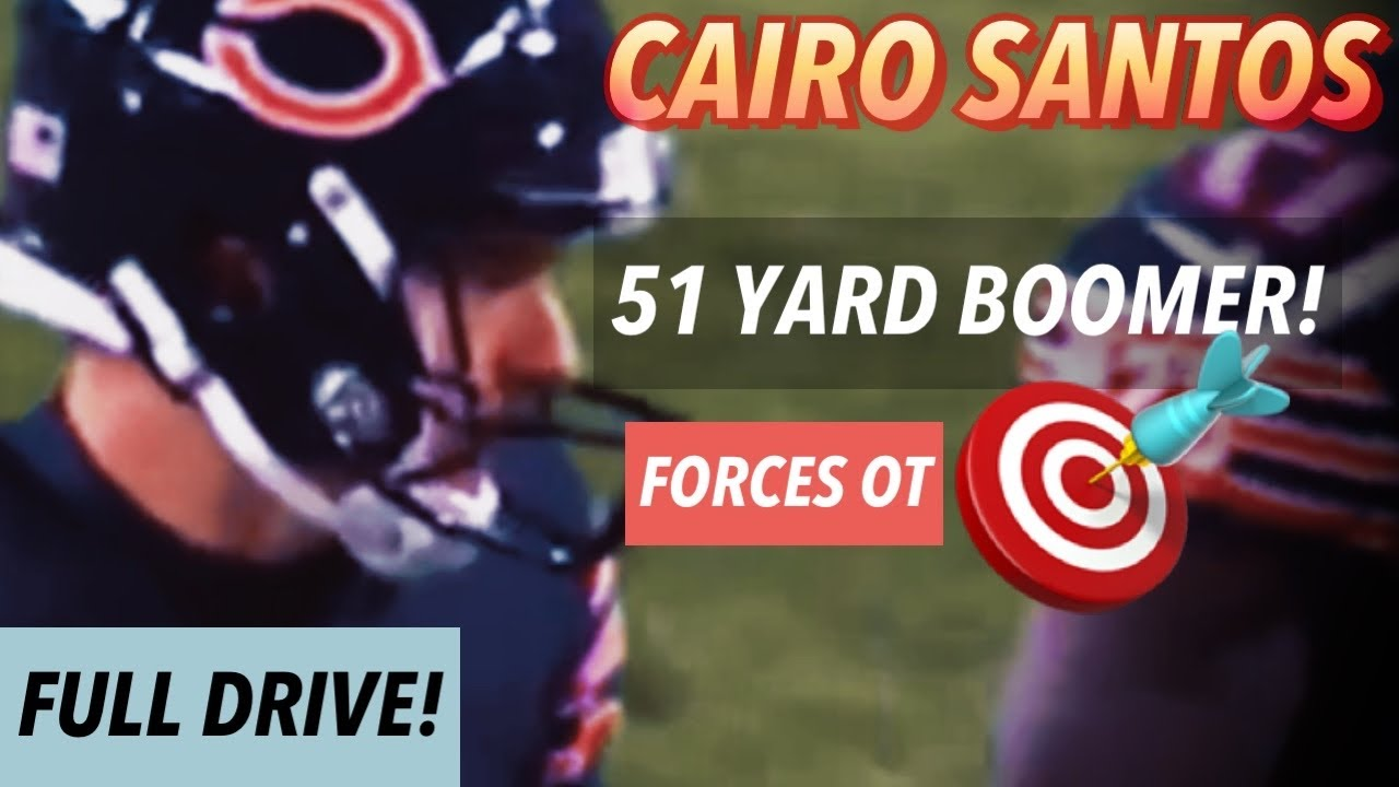 Cairo Santos Forces OT with MONSTER KICK!