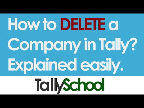 How to delete a company in Tally