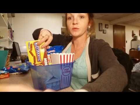 D.I.Y snack caddie for movie night.