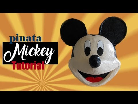 Pinata Mickey Mouse tutorial