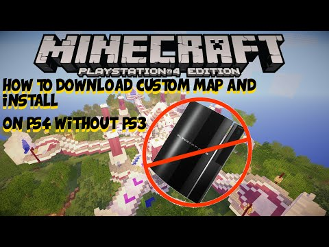 How to Download Custom Maps on Minecraft PS4 !! [Playstation 4 Tutorial] WITHOUT PS3