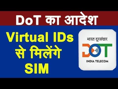DoT Orders Telcos to Issue New SIM Cards Using Virtual IDs Generated Via Aadhaar