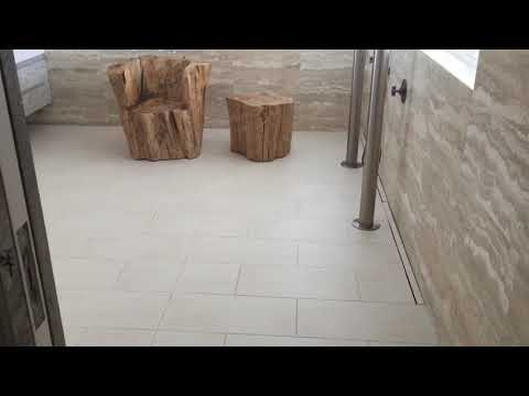 How to make porcelain tiles less slippery