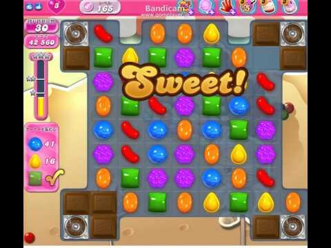 Candy Crush Saga Level 165 clear