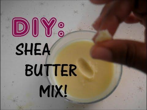 DIY Shea Butter + Coconut Oil Mix!