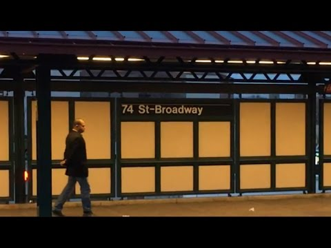 IRT Flushing Line: R62A and R188 (7) [(7X) Bypass] Train Action at 74th St-Broadway