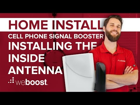 Installing the Inside Antenna - Cell Phone Signal Booster Home Install Series (4 of 6) | weBoost