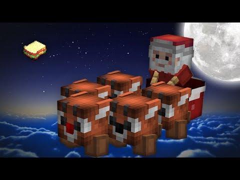 Minecraft | How to make a Santa Sleigh (Christmas Eve Special)