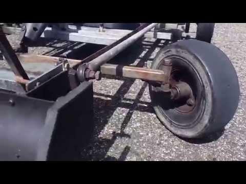Homemade two engine Go-kart