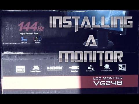 Installing Asus monitor VG248