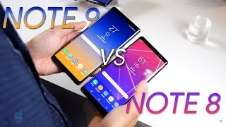 Samsung Galaxy Note 9 vs Samsung Galaxy Note 8: first look