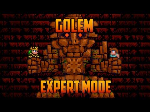 Terraria 1.3 - Golem Expert Mode Boss Battle