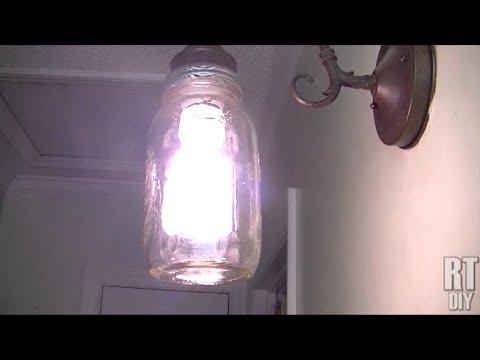 Creative Mason Jar Sconce ~ Rick's Tips