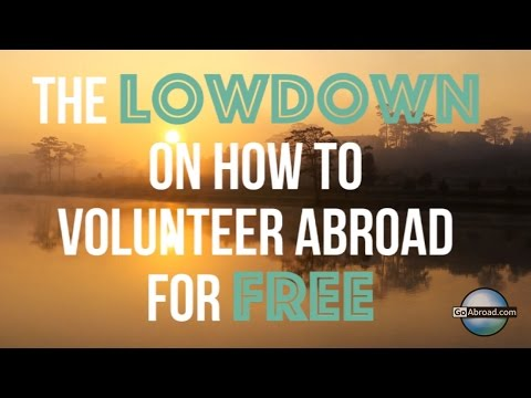 Volunteering Abroad for Free? Here's the Lowdown