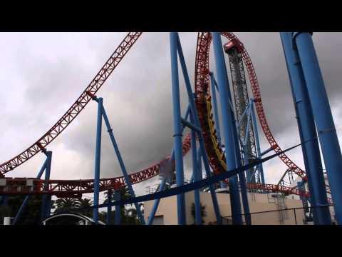 Superman Escape Rollercoaster Ride @ Warner Bros. Movie World on the Gold Coast, Australia