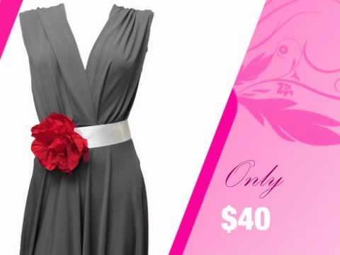 Satin Ribbon Wedding Dress Sash with Red Flower - AdvantageBridal.com