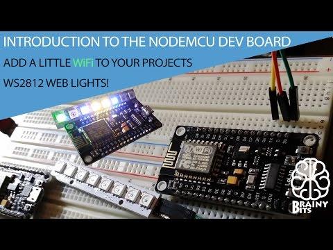 Program NODEMCU Dev Kit using the Arduino IDE - WiFi Web LED's WS2812 – Introduction Tutorial